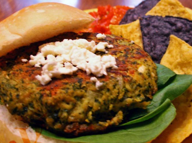Spinach Feta Burger