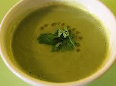 Cauliflower Greens Soup